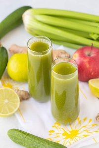 celery cucumber green juice 1
