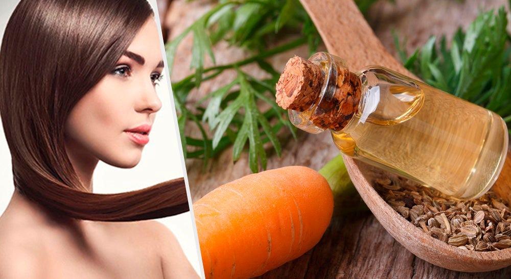 Mascarillas con aceite de zanahoria para fomentar el crecimiento del cabello