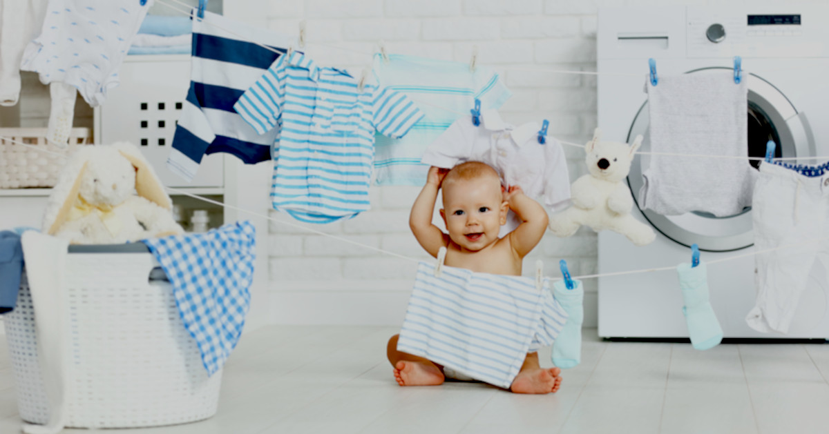 Washing baby clothes featured