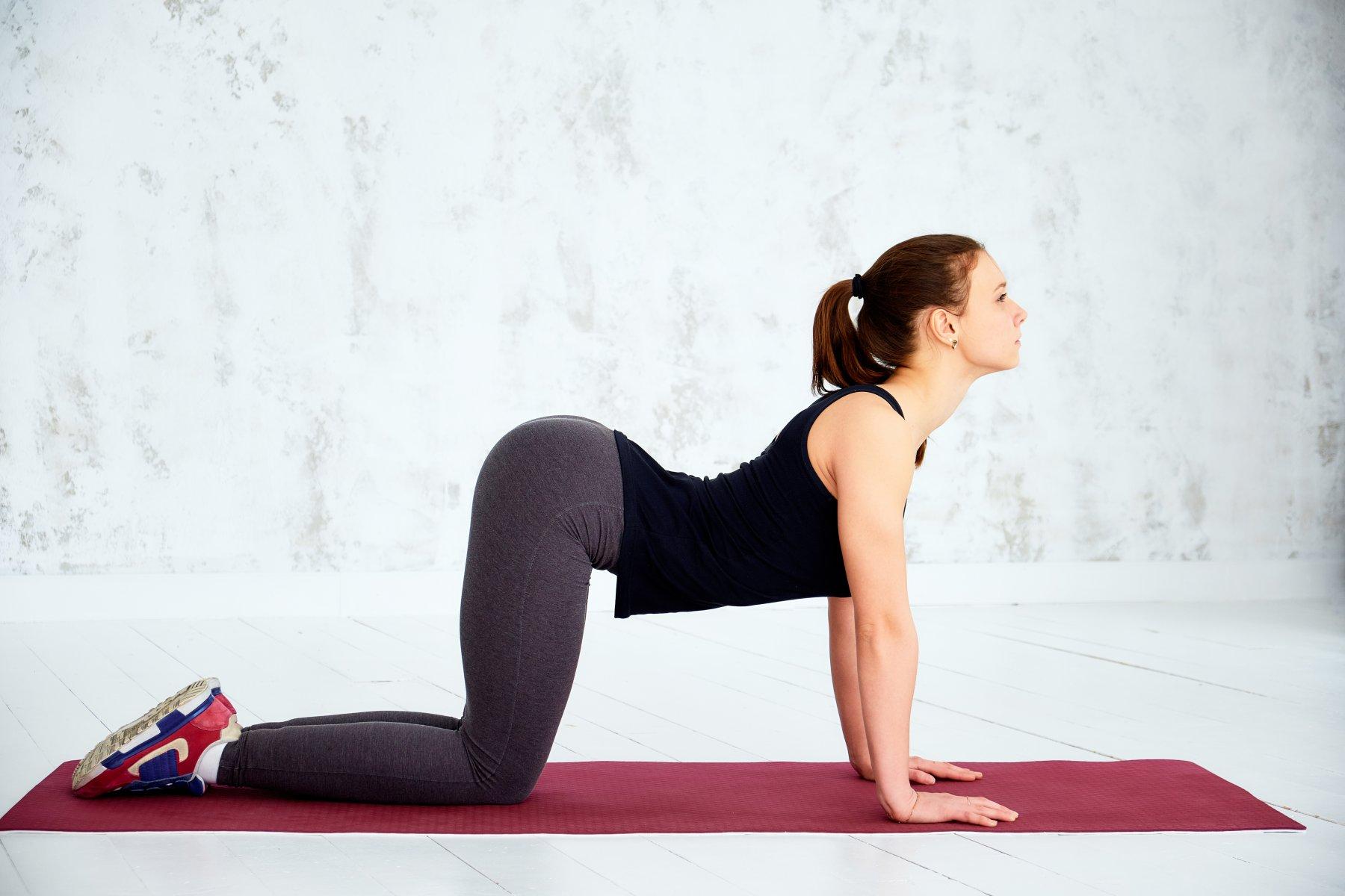 yoga cow